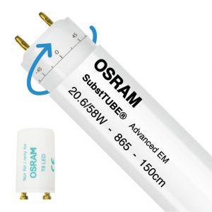 Osram SubstiTUBE Advanced EM 20.6W 865 150cm   Lumière du Jour - Starter LED incl. - Substitut 58W - Rotatif