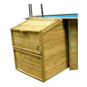 Sunbay Coffre de filtration en bois pour piscine - Hauteur 1.46m