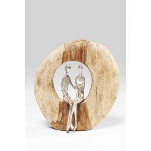 Kare Design Objet Décoratif Couple Gris en Aluminium et Mango FOREST