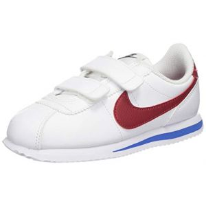Nike Cortez Basic SL (PSV), Chaussures de Running Compétition garçon, Blanc (White Red/Varsity Royal/Black 103), 31 EU