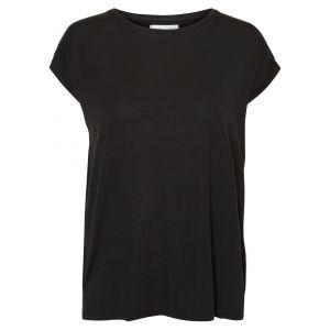 Vero Moda NOS Vmava Plain SS Top GA Noos T- T-Shirt Noir Black, 38 (Taille Fabricant: Small) Femme