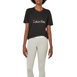Calvin Klein Pyjamas S/s Crew Ne - Bla - S