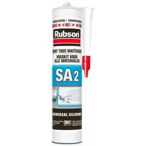 Rubson Mastic silicone sanitaire émail/synthétique blanc 280ml