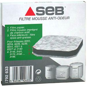 Seb 792633 - Filtre mousse anti-odeur pour friteuse
