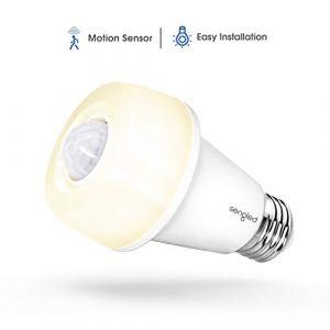 Sengled Smartsense Ampoule LED E27 Blanc Chaud avec Détecteur de Mouvement, 9W Equivalent Ampoule Incandescente de 60W, 2700K, Lot de 1