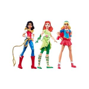 Image de Mattel Pack de 3 poupées DC Super Hero Girls : Wonder Woman, Super Girl et Poison Ivy