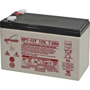 Enersys Batterie au plomb 12 V 7 Ah Genesis plomb (AGM) (l x h x p) 151 x 100 x 65 mm connecteur plat 6,35 mm sans entre