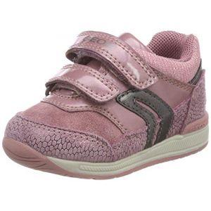 Image de Geox B Rishon A, Sneakers Basses bébé Fille, Rose (DK Pink C8006), 23 EU