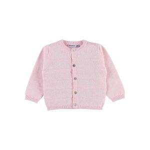 Noukie's Cardigan en tricot Fille Collection Cocon Eté - Rose clair - 9 mois
