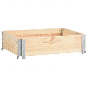 VidaXL Collier de palette 60x80 cm Bois de pin solide