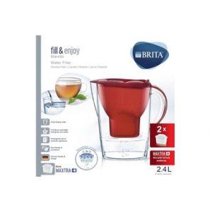 Brita Carafe filtrante Marella Rouge 2,4L + 2 cartouches