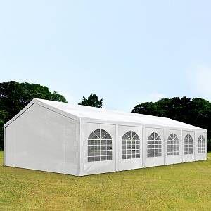 Intent24 Fr Tente de réception 6x12m PE 240g/m² blanc imperméable barnum, chapiteau