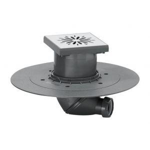 Image de Wirquin Carrés de plancher point wetroom drain de la douche souterraine 150mmx150mm en acier inoxydable