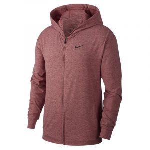 Nike Sweat à capuche de yoga entièrement zippé Dri-FIT pour Homme - Rouge - Taille L - Male