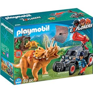 Playmobil 9434 - The Explorers : Bandit avec Tricératops