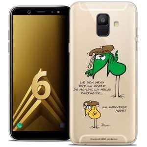 CaseInk Coque Gel Samsung Galaxy A6 2018 (5.45 ) Extra Fine Les Shadoks® - Le Partage