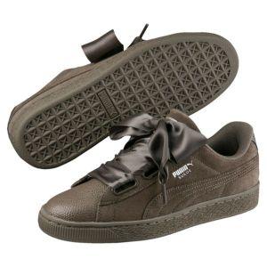 Image de Puma Suede Heart Bubble Wn's, Sneakers Basses Femme, Marron (Bungee Cord-Bungee Cord), 40 EU