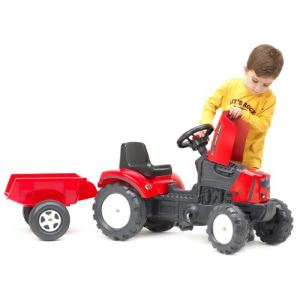 Falk Tracteur à pédales Falk Lander Z160X avec remorque