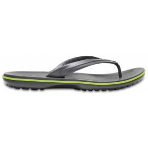 Crocs Crocband Flip, Tongs Mixte Adulte, Gris (Graphite/Volt Green), 41/42 EU