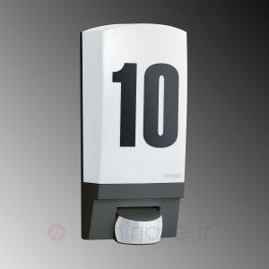 Steinel L 1 - Applique d'extérieur numéro de maison avec détecteur
