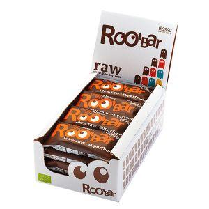 Roo'bar Raw Energy Bar Cacao Nibs And Almonds 50 G X 16