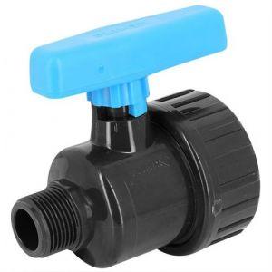 Vanne à boisseau PVC pression simple union à visser MF 1/2 - Catégorie Vanne et robinet PVC