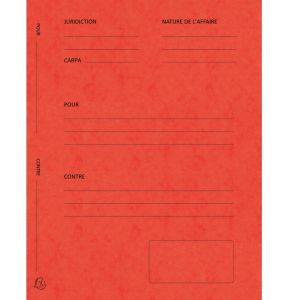 Exacompta 220105E - Paquet de 25 dossiers de plaidoirie Pour/Contre, en carte 265 g/m², coloris rouge