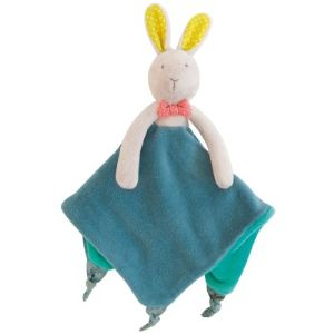 Moulin roty Doudou attache tétine Lapin Mademoiselle et Ribambelle