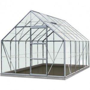 ACD Serre de jardin en verre trempé Olivier - 9,90m² OLIVIERSECURIT_1 - longueur : 3m84 Silver
