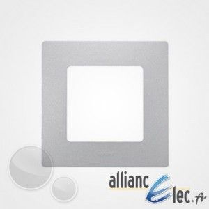 Legrand Plaque de finition simple Argent Niloe