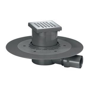 Wirquin Siphon de douche à carreler - 150 x 150 mm - Sortie horizontale - Venisio - Pro