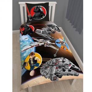 Lego Star Wars - Housse de couette et taie 100% coton (140 x 200 cm)