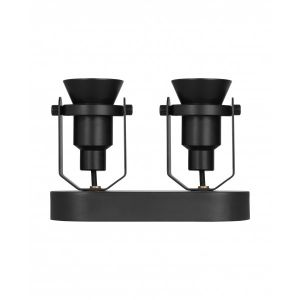 Osram Luminaire 1906 DECOSPOT DOUBLE Spot - 2 spots LED GU10 6 watt inclus - 2 finitions possibles - Finition - Noir