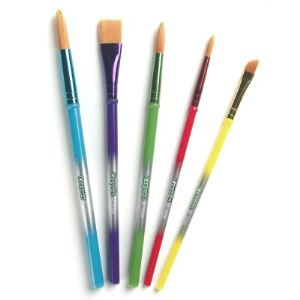 Crayola 5 pinceaux pour gouache