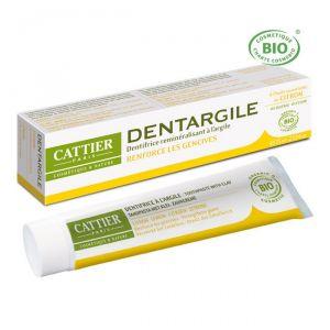 Cattier Dentargile - Dentifrice Bio reminéralisant à l'argile arôme citron