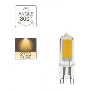 Xanlite Ampoule LED G9, culot G9, 3W cons. (30W eq.), lumière blanc chaud