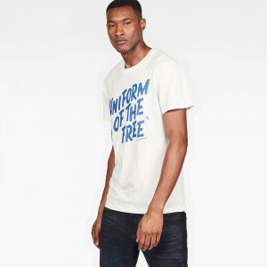 G-Star Raw T-shirt Raw Graphic 9 T-Shirt Beige - Taille EU XXL,EU S,EU M,EU L