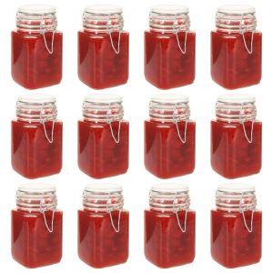 VidaXL Pots à confiture en verre avec serrure 12 pcs 260 ml