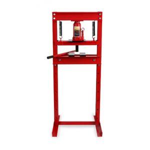 Eberth 12 T Presse hydraulique datelier (635 mm Hauteur de travail, Réglable 8 niveaux, 425 mm Largeur de travail)