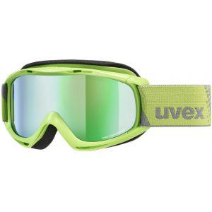 Uvex Slider FM Lunettes de protection Enfant, lightgreen/mirror green Masques Ski & Snowboard