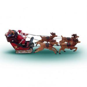 JJA Père Noël en traineau et ses rennes