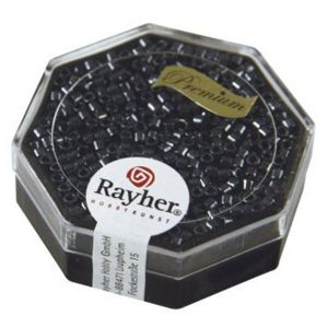 Rayher Perles Miyuki Delica 10/0 métallic noir - DMB 1