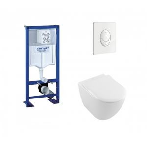 Grohe Pack Rapid SL + Cuvette Subway 2.0 Villeroy + Plaque Blanche