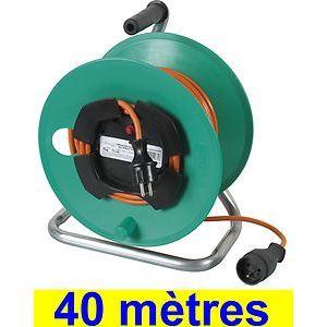 Ribimex PREEJ40315V - Enrouleurs de câbles électriques pour le jardin 40m