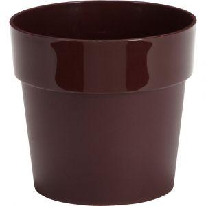 Elho Pot / cache-pot rouge sumac en plastique H13xD14cm
