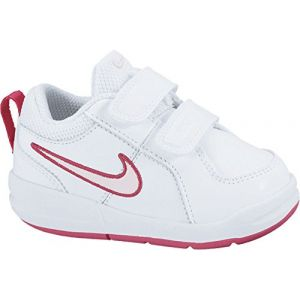 Nike Pico 4 Psv, Sneakers Basses fille, Blanc (White/Prism Pink-Spark), 34 EU (UK child 2 Enfant UK)