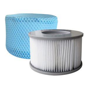 Mspa Lot de 2 cartouches filtrantes avec filet pour spa gonflable