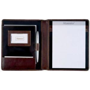 Alassio 30057 - Conférencier Monaco, format A5, cuir bistre antique
