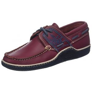 Tbs Globek, Chaussures Bateau Hommes, Rouge (Grenat + Encre + Gazelle B80b6), 41 EU