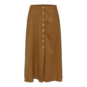 Only Jupe Longue Jany Femme Marron Rouillé - Taille UK L